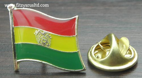 Bolivia Country Flag Lapel Hat Cap Tie Pin Badge / Brooch - Plurinational State
